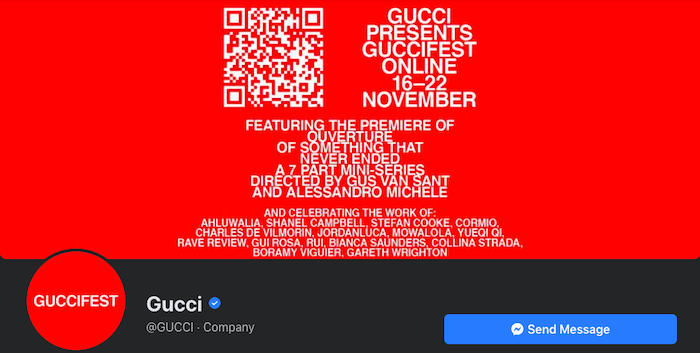 Gucci awesome Facebook cover photo