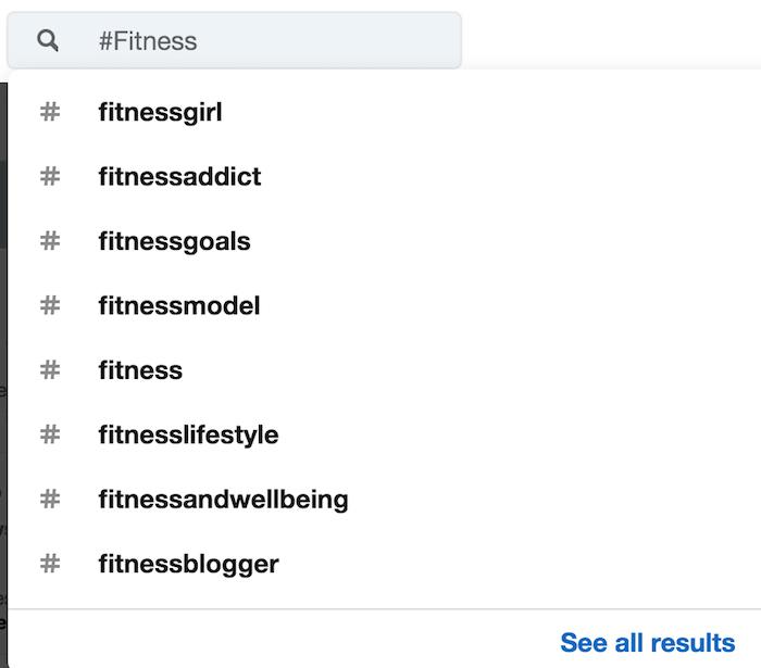 Linkedin Top Hasthags LinkedIn Empfehlungen für Hashtags über Fitness