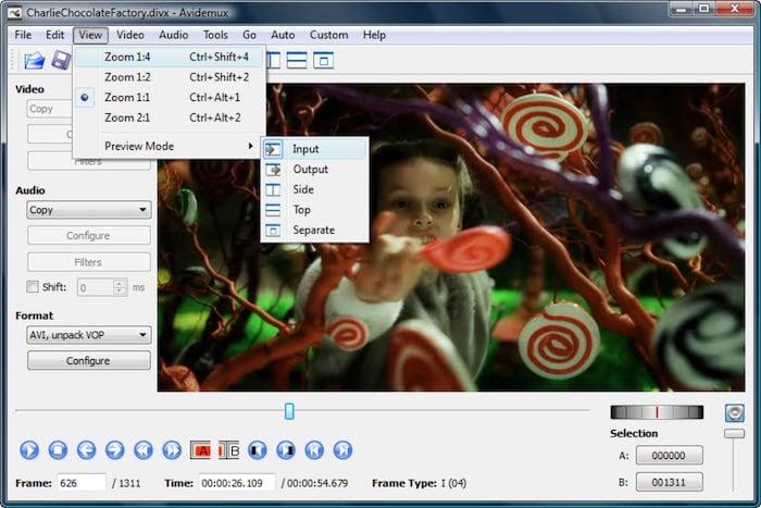 logiciel de montage vidéo gratuit avidemux