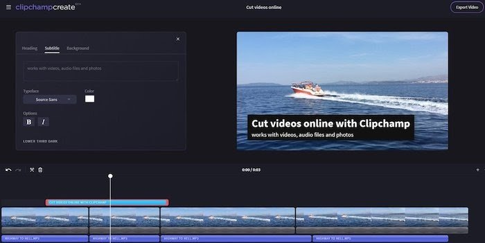 clipchamp free video editing software