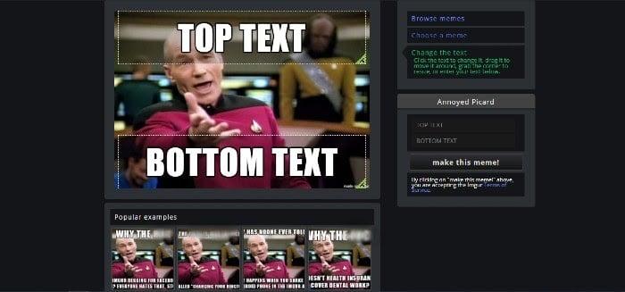 Erstellen von Marketing-Memes auf Imgur Wählen Sie Text