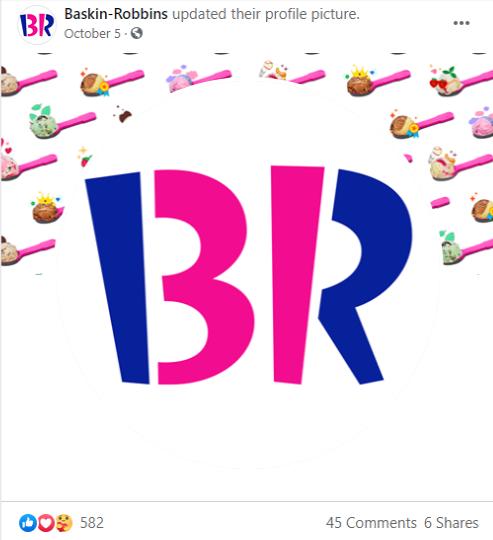 Unterschwelliges Messaging Beispiel für Baskin Robbins