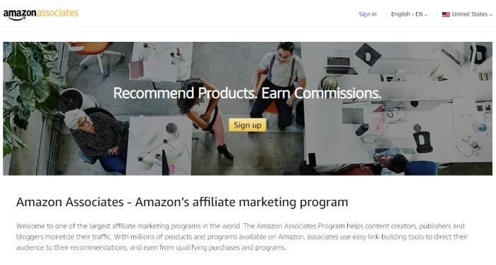 Top Affiliate Networks Amazon associates