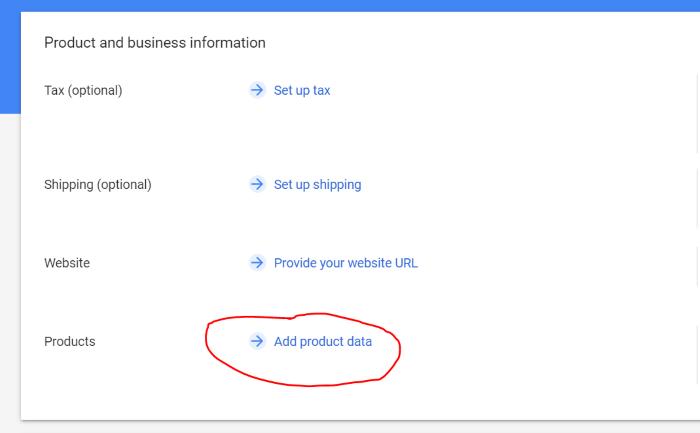 add product data merchant center google lens