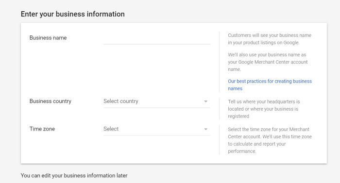 business name and info merchant center google lens
