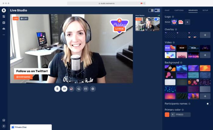 restream io live stream example