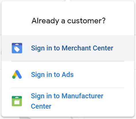 sign into merchant center google lens