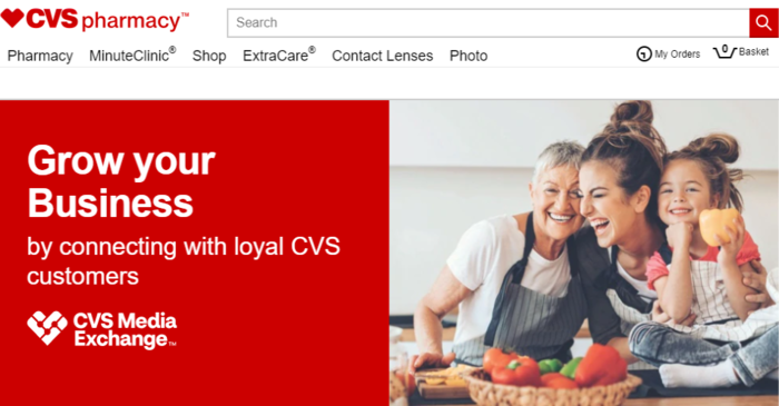 CVS retail media example
