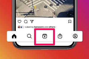 instagram reels button