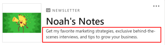 linkedin newsletter noah notes example