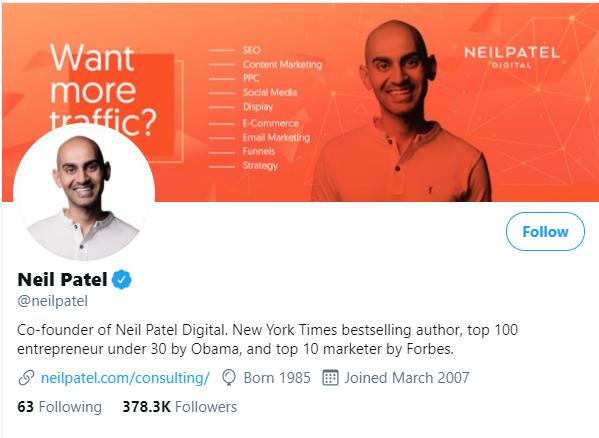 neil patel twitter how to buy twitter followers