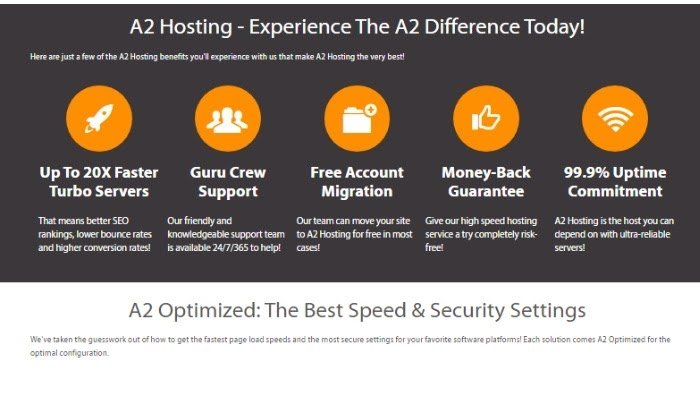 a2 hosting overall features np