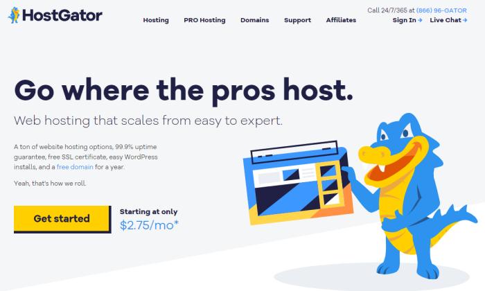 cheap web hosting hostgartor