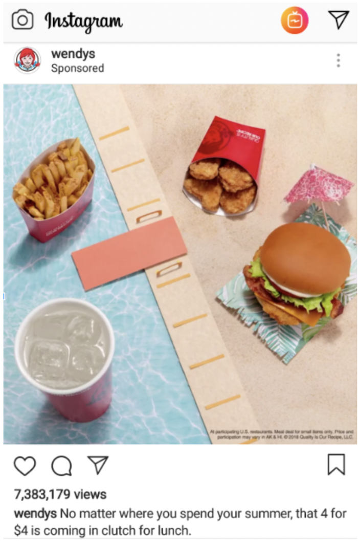 Examples of great food advertisements - Wendy's