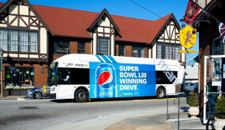 Examples of Great Out of Home Advertising - Pepsi bus
