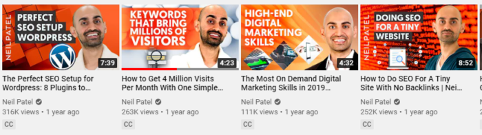 Neil patel youtube thumbnail examples