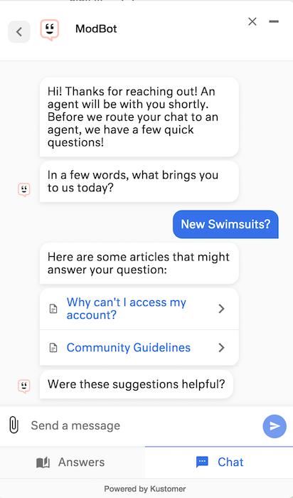 block bots - modcloth chatbot example