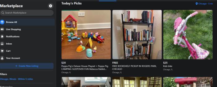 facebook marketplace example