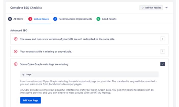 AIOSEO checklist wordpress security plugin