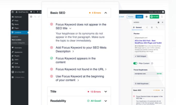 AIOSEO wordpress security plugin