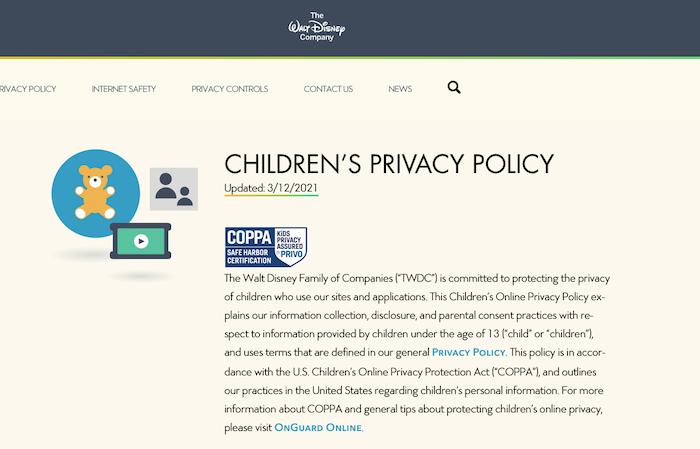 Privacy Policy Generators - disney website privacy policy