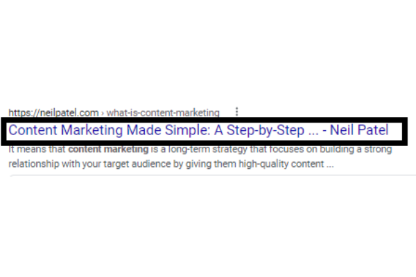 title tag example for seo marketing