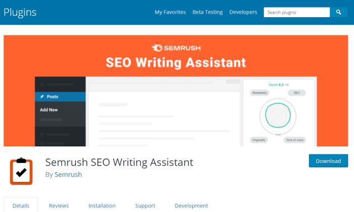 SWA wordpress SEO plugin