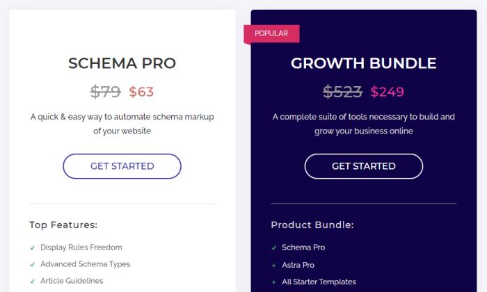 SchemaPro pricing wordpress SEO plugin