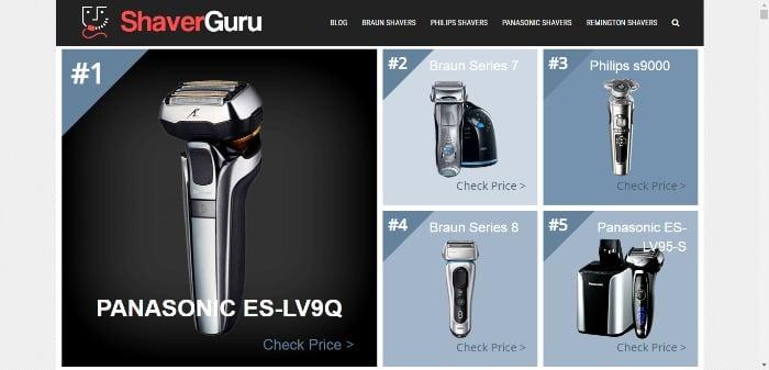 affiliate marketing in 2021 shaver guru example