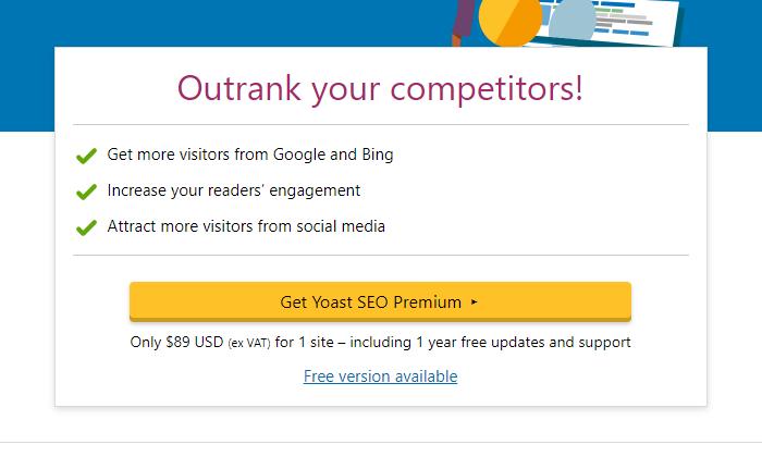 Yoast pricing wordpress SEO plugin