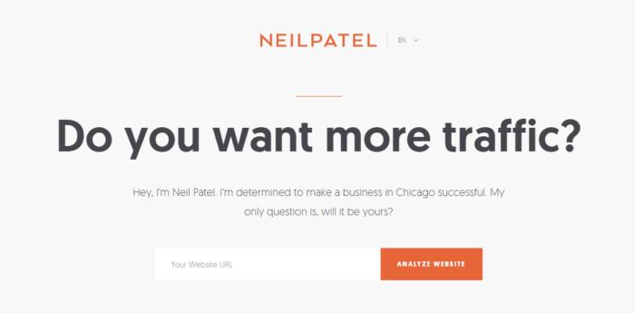 Neil Patel A/B testing example