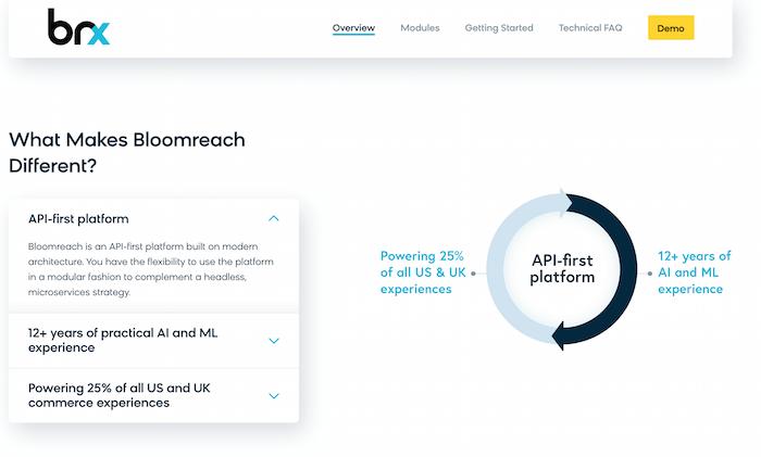 Examples of Digital Experience Platform Tools - Bloomreach