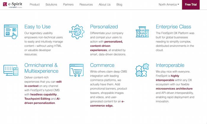 Examples of Digital Experience Platform Tools - FirstSpirit