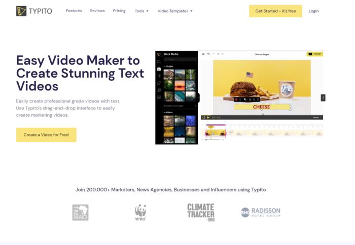 Outils de création vidéo automatisée - Typito