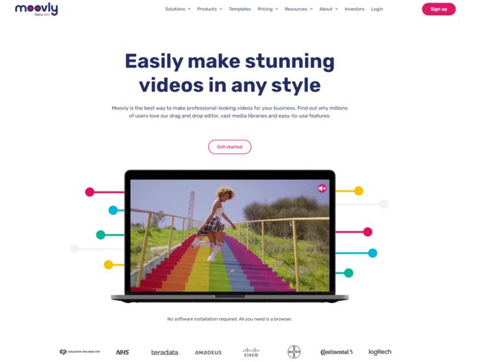 Outils de création vidéo automatisée - Moovly