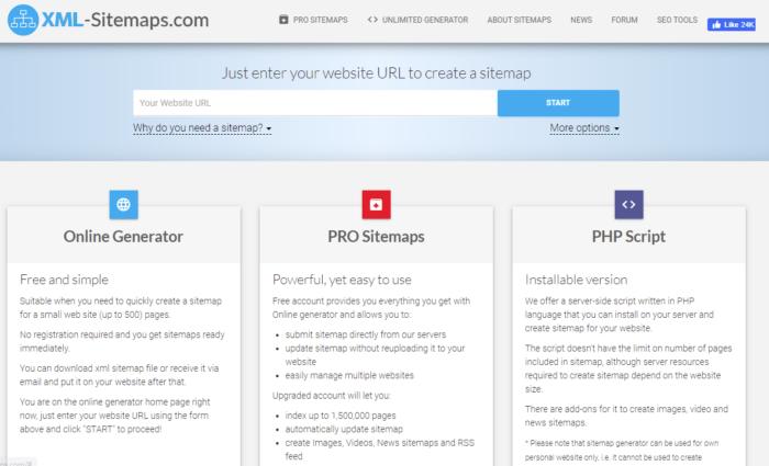 free seo tool XML sitemaps