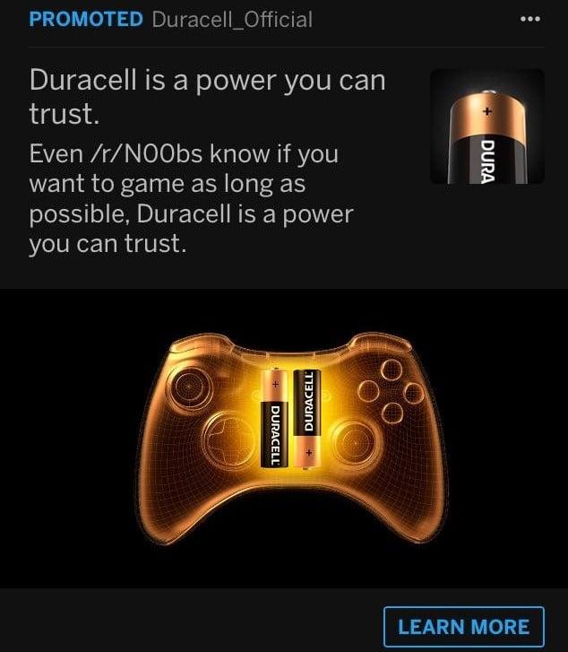 نمونه تبلیغات duracell reddit