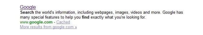 Examples of Great Meta Descriptions - Google Meta Description on Yaho