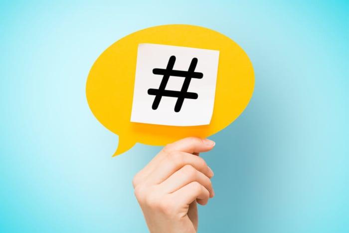 simbolo de hashtag