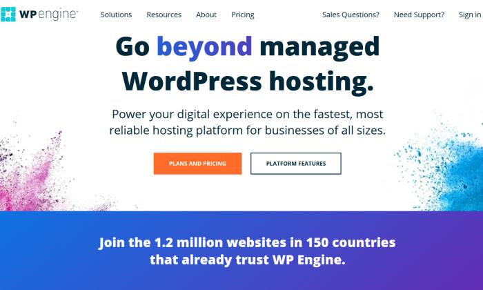 WP Engine splash page for Best WordPress Web Hosting