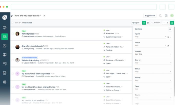 Freshdesk interface for Best Help Desk Software