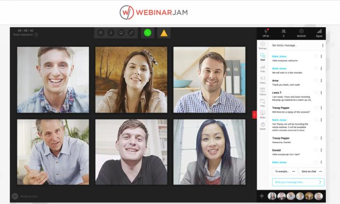 WebinarJam interface for Best Webinar Software