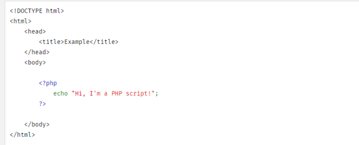 example of PHP