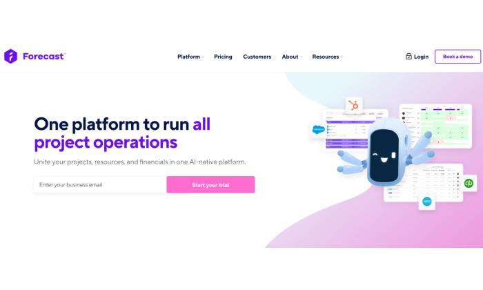 Forecast splash page for Best Agile Project Management Software
