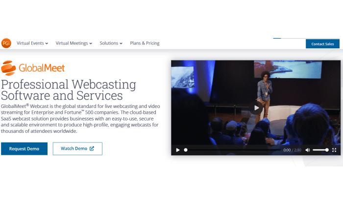 GlobalMeet webcast splash page for Best Webcasting Services