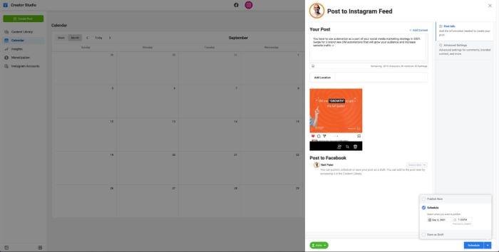 instagram creator studio Instagram automation