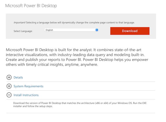 شروع به کار با Power BI برای بازاریابی - Power BI Desktop را بارگیری و نصب کنید