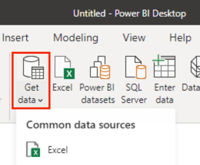 شروع به کار با Power BI برای بازاریابی - داده های خود را وارد کنید