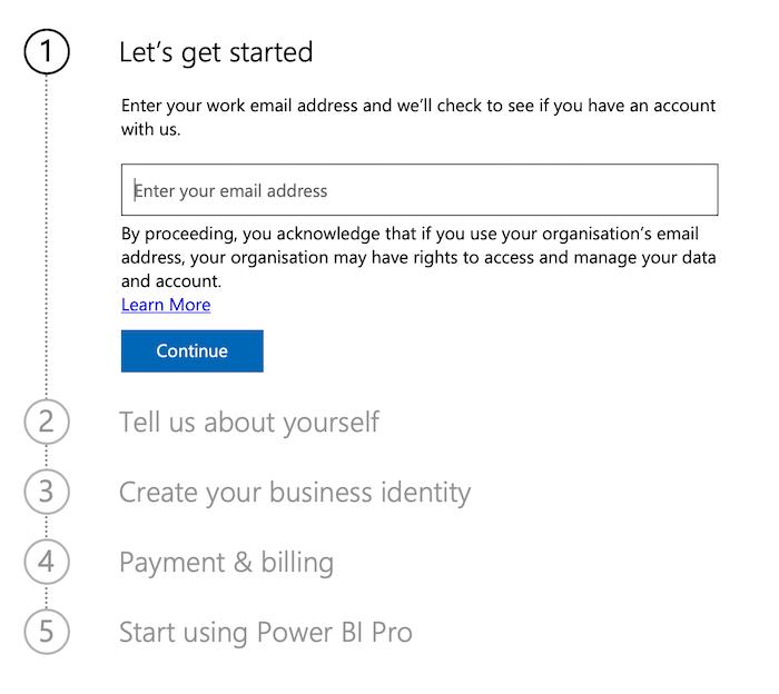شروع به کار با Power BI برای بازاریابی - ثبت نام کنید