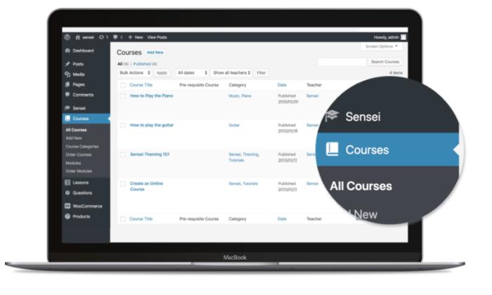 Sensei interface for Best LMS Software